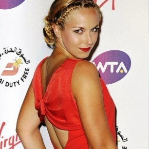 Sabine Lisicki Braided Hairstyle