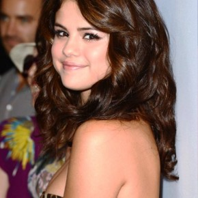 Selena Gomez Formal Long Wavy Hairstyles