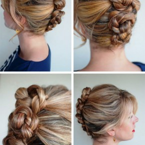 Sexy French Roll Twist Pin Braid