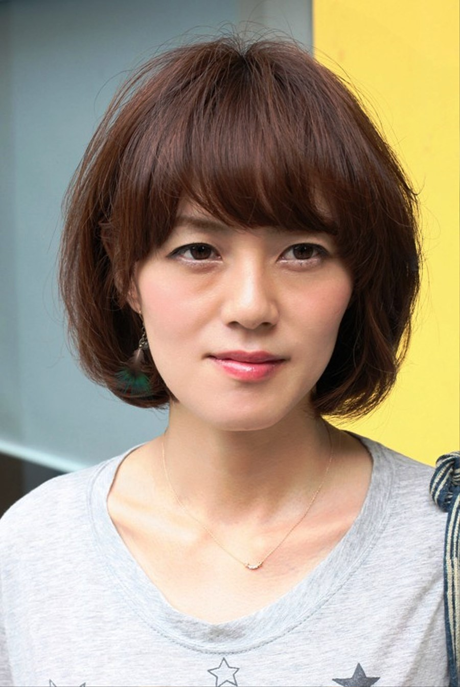 Pictures Of Sexy Short Messy Bob Hairstyle With Bangs