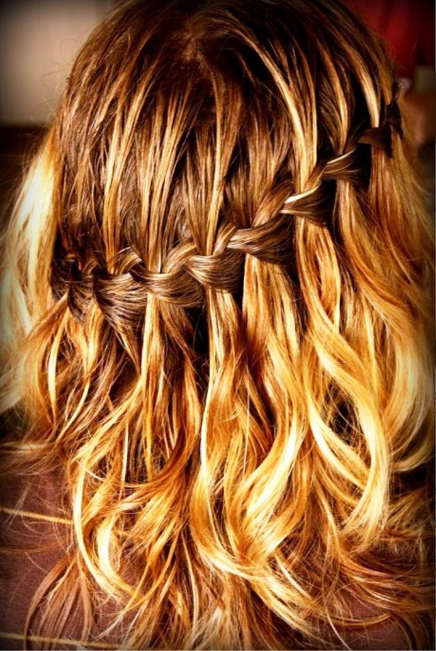 Sexy Waterfall Braid Hairstyle