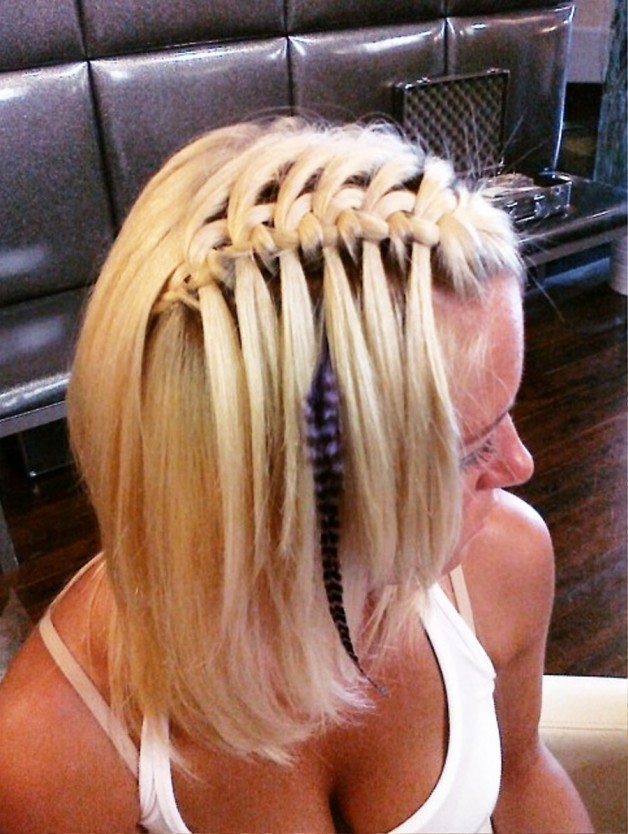 Sexy Waterfall Braid Hairstyles 2013