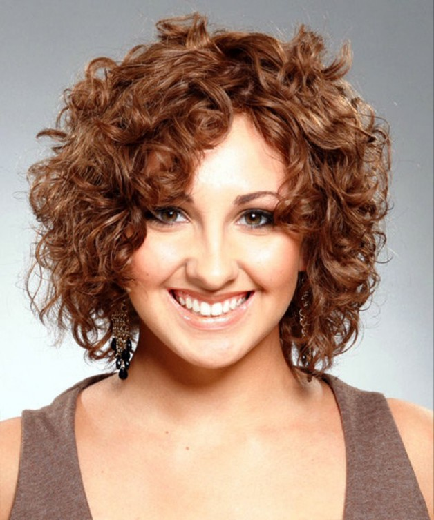 Short Brown Hairstyles For Curly Hair
