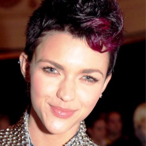 Short Colored Fauxhawk Hairstyle