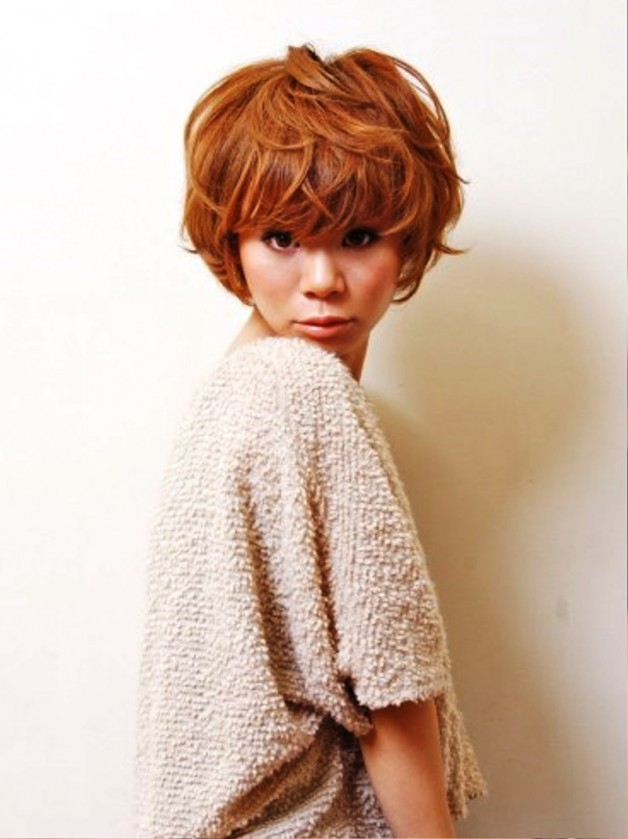 Short Curly Japanese Hairstyle