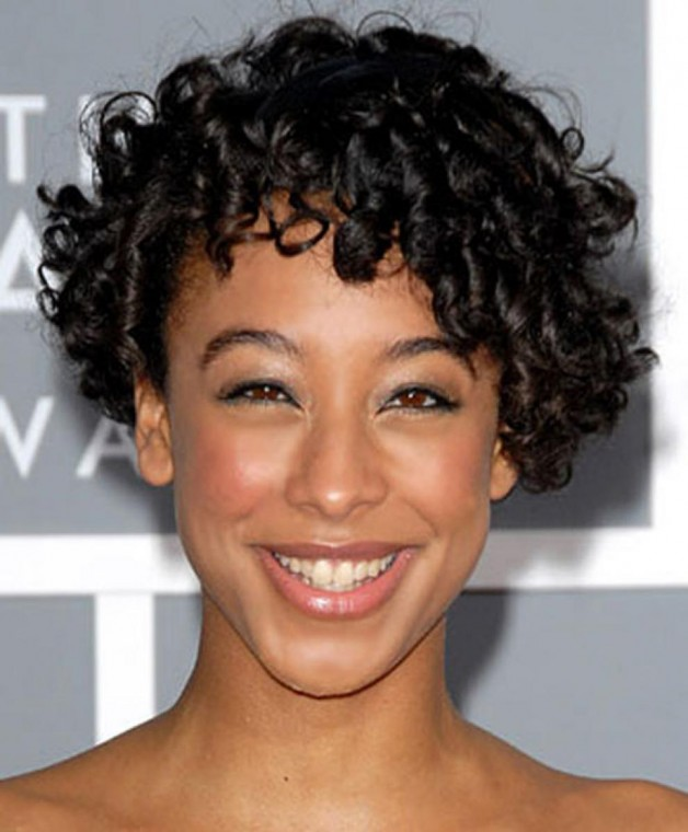 Short Curly Natural Black Hairstyles