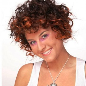 Short Hairstyles For Curly Hair Color