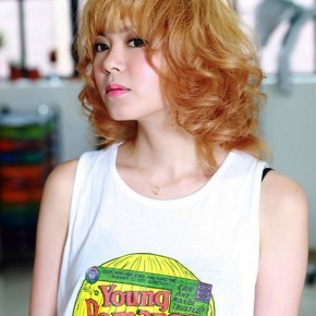 Short Japanese Curly Hairstyle For Women