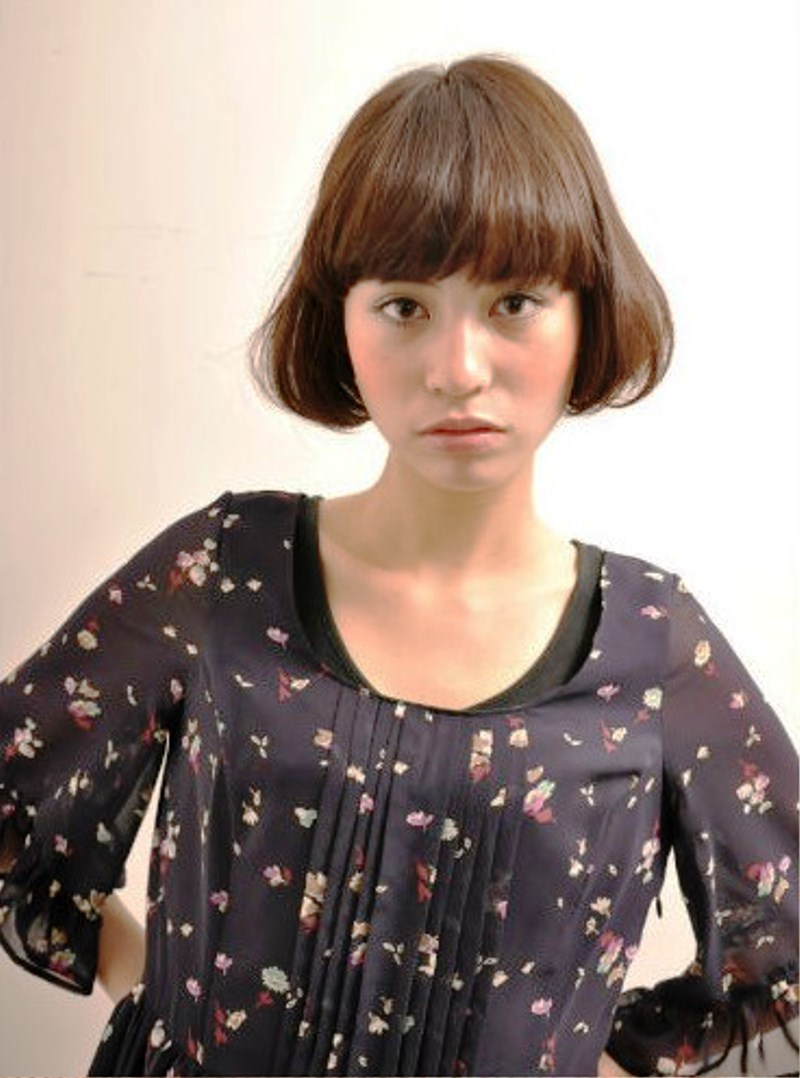 Outstanding Pictures Of Short Japanese Hairstyle With Blunt Bangs Short Hairstyles Gunalazisus