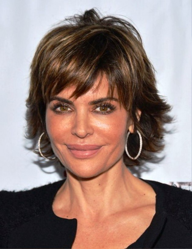 Short Wavy Hairstyles With Brown Color