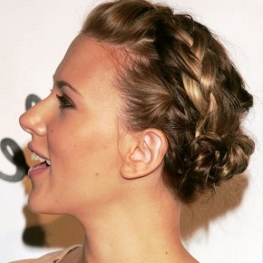 Side View Of Braided Bun Updos