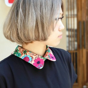 Side View Of Cute Japanese Short Bob Cut