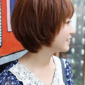 Side View Of Cute Short Korean Bob Hairstyle