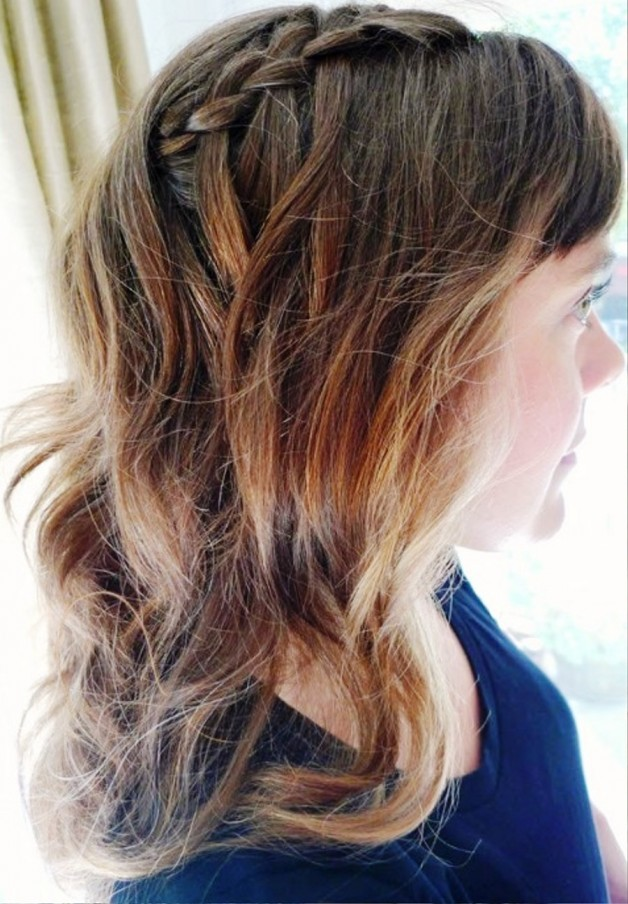 Side View Of Waterfall Braid