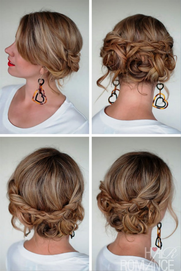 Simple Easy Casual Messy Braided Updo