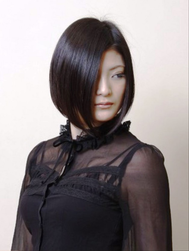 Sleek Dark Japanese Bob Hairstyle