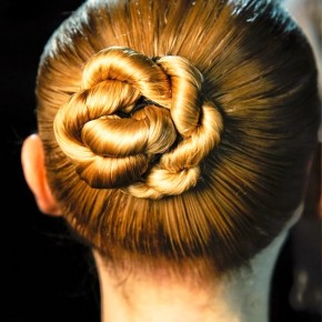 Sleek Twisty Central Chignon