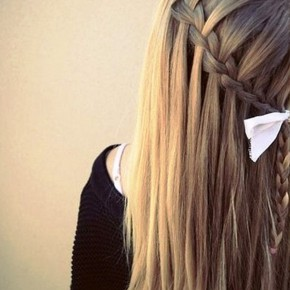 Sleek Waterfall Braid Hairstyle