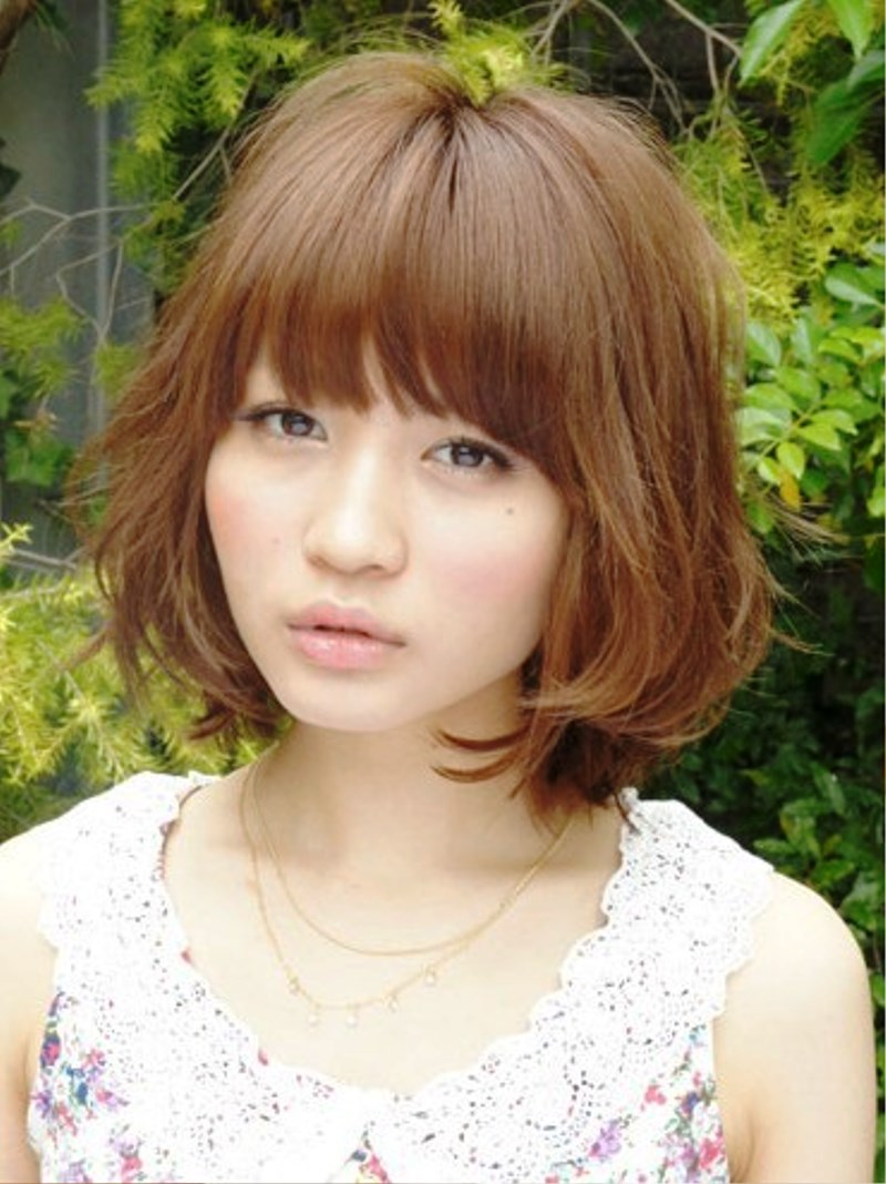Pictures of Soft Curly Japanese Hairstyles