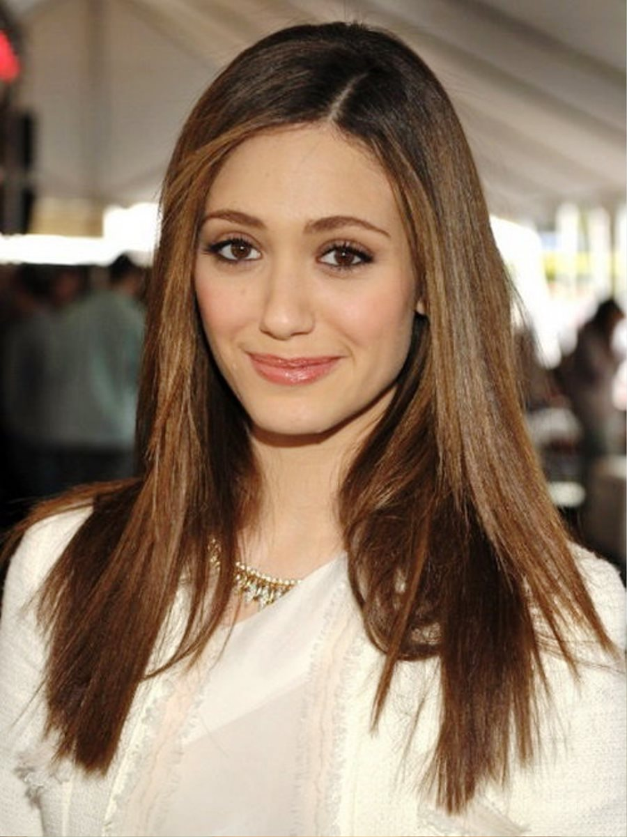 Straight Long Hairstyles For Round Faces Pictures