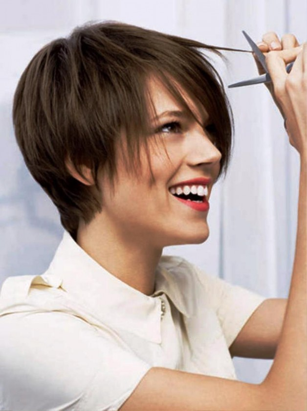 Straight Short Brown Hairstyles