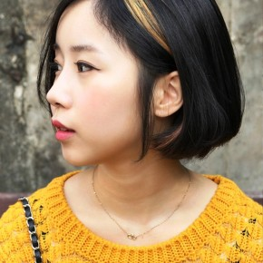 Stylish Asian Cute A Line Bob Hairstyle