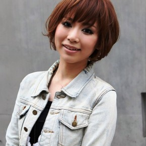 Stylish Short Japanese Brown Haircut