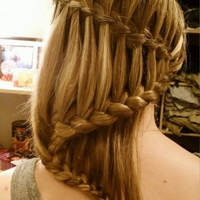 Stylish Waterfall Braid Hairstyles For Teen Girls
