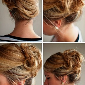 Summer Updos Loose Side French Twist For Women
