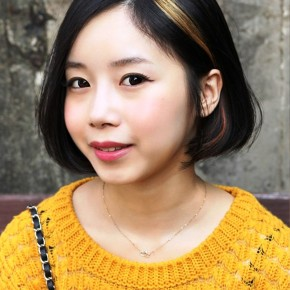 Sweet Asian A Line Bob Hairstyle For Girls