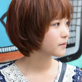 Sweet Layered Short Korean Hairstyle