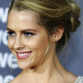 Teresa Palmer Loose Casual French Twist