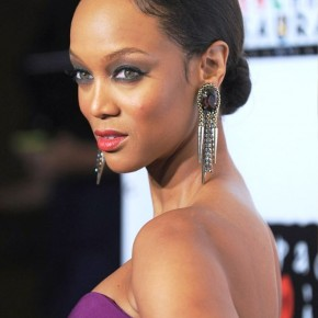 Tyra Banks Bun Updo For Thin Hair