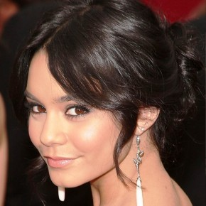 Vanessa Hudgens Twisted Bun Updo