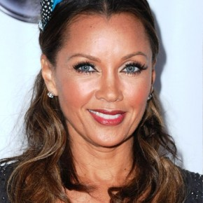 Vanessa Williams Wavy Curly Half Up Half Down Hairstyle
