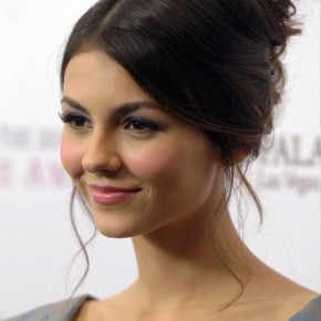 Victoria Justice Cute French Twist Updo Hairstyle
