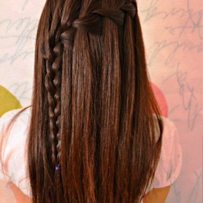 Waterfall Braid For Long Straight Hair 1