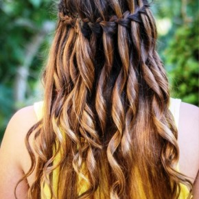 Waterfall Braid For Ombre Hair