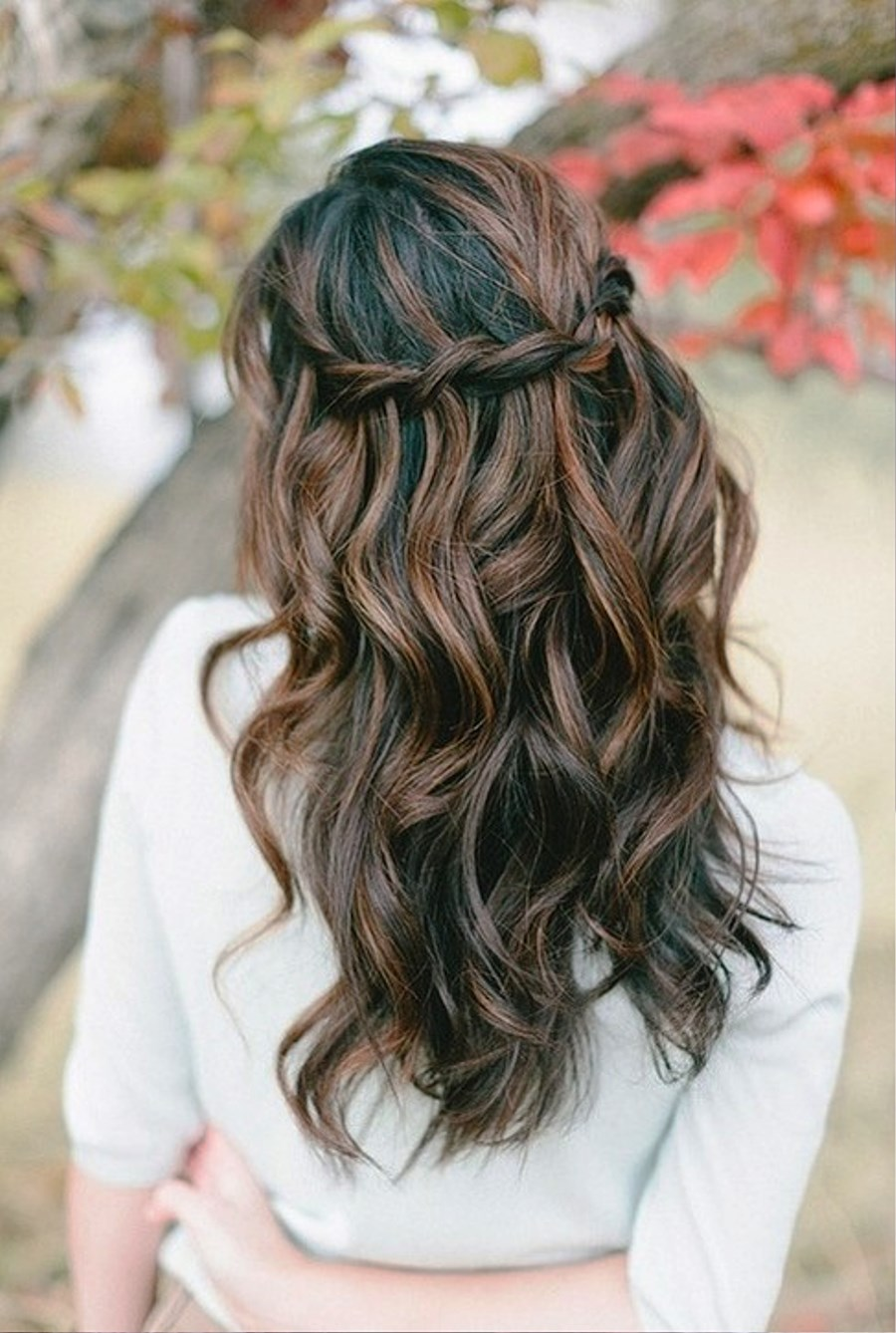 Waterfall Braid For Wavy Hair Pictures