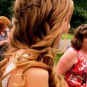 Waterfall Braid Hair Style