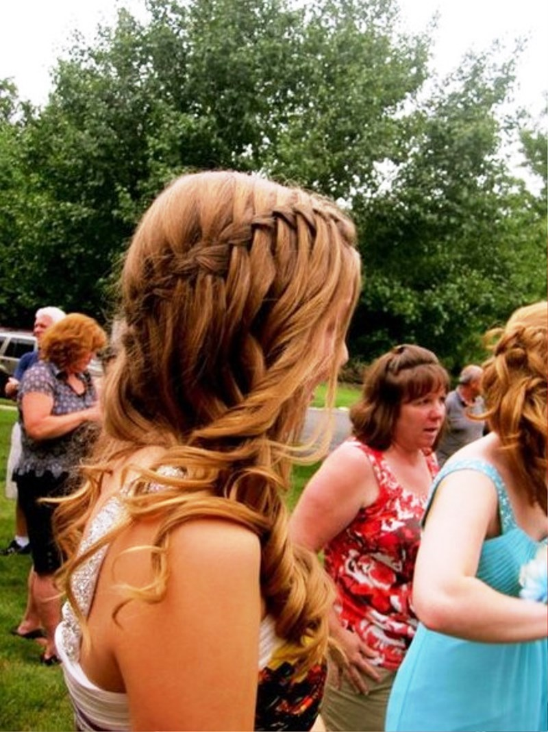 Pleasing Pictures Of Waterfall Braid Hairstyle For Prom Hairstyles For Men Maxibearus