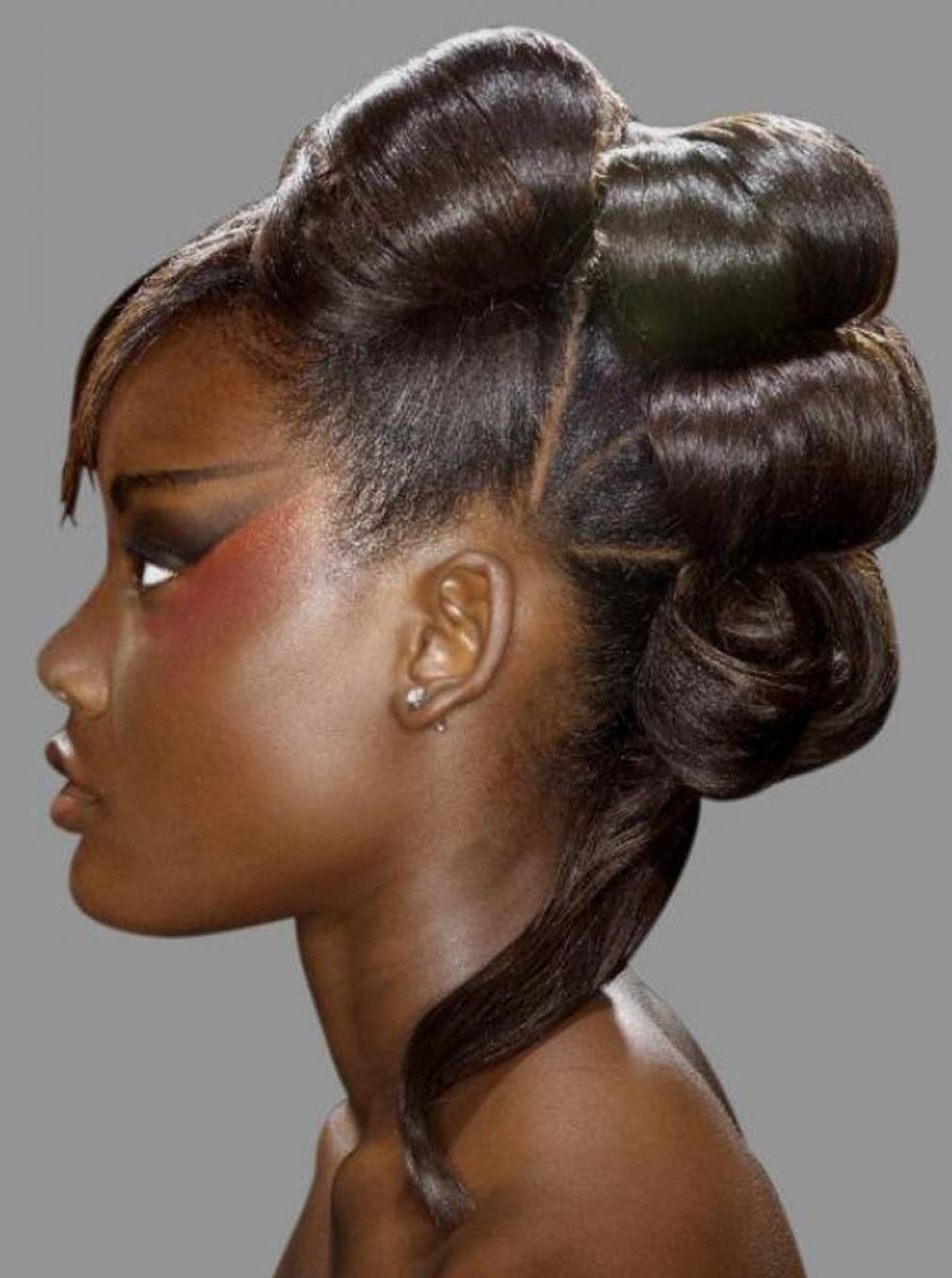 pictures of weave updo hairstyles for black women