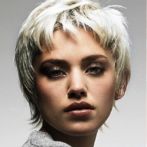White Short Hairstyles Messy