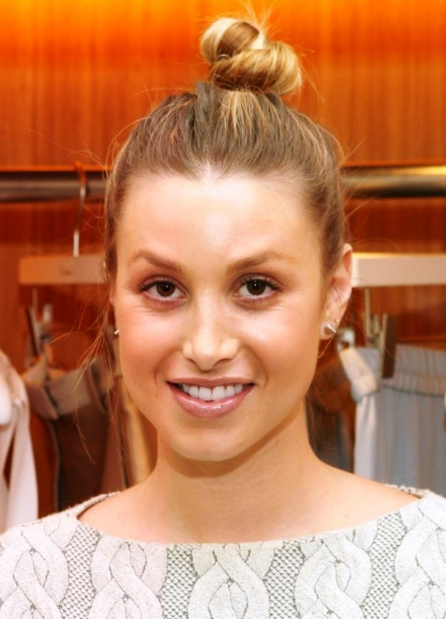 Whitney Port Casual Top Hair Knot