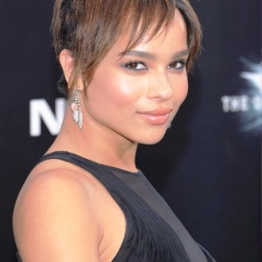 Zoe Kravitz Short Straight Haircut 2013