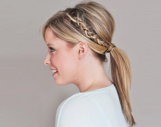 easy summer braid ponytail hairstyle