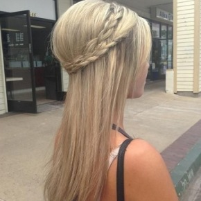 Long Straight With Plaits Hairstyle