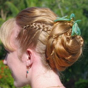 Updo Hairstyles With Micro Braids