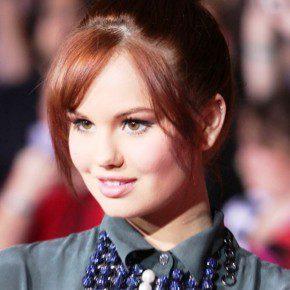 Debby Ryan Cute Top Knot Hair Style