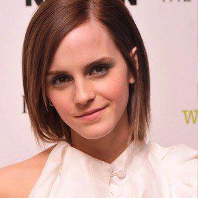Emma Watson Cute Short Straight Hair Style
